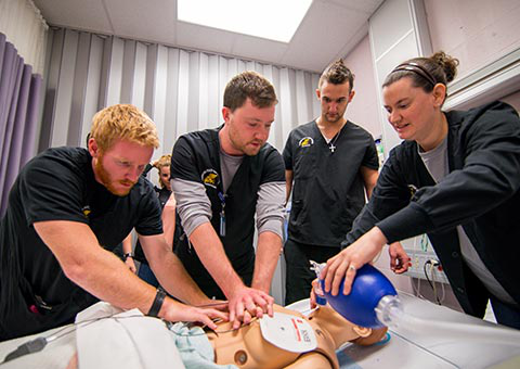 MWSU nursing students learning CPR